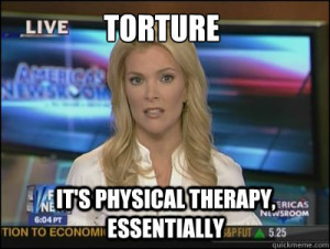 Torture is physical therapy