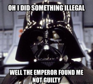 Darth Vader not guilty