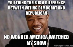 no difference between democrats and republicans